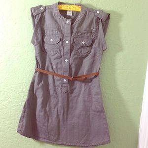 Carter's Olive Green Cargo Dress w Tan Suede Belt